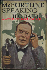 H. C. Bailey's Reggie Fortune depicted on book cover