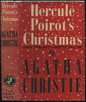 Agatha christie hercule poirot's christmas first edition book.