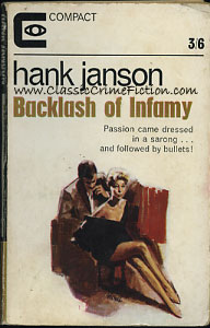 Hank Janson Backlash of Infamy