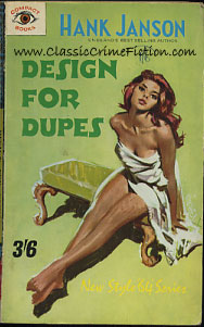 Hank Janson Design for Dupes